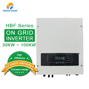 Three phase 30kw 50kw 100kw on grid solar inverter