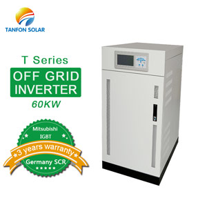 Three phase off grid solar 60kw inverter with IGBT