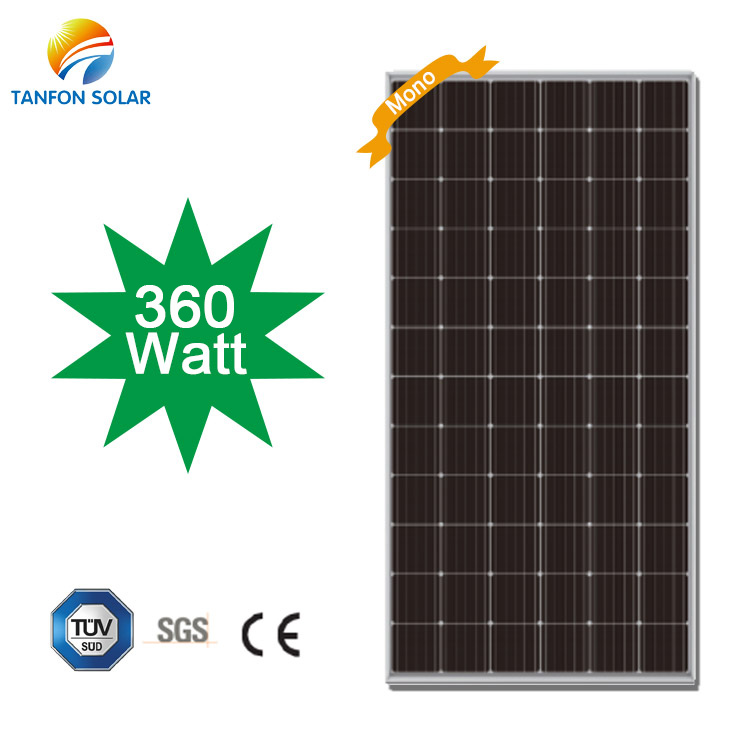 Mono 360 Watt 24v Solar Panel for Home Price