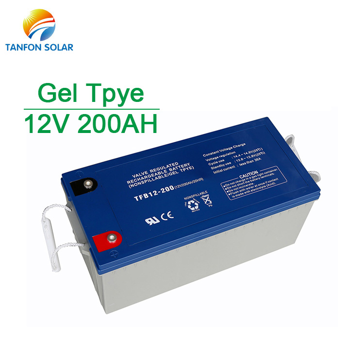 Rechargeable Gel 200ah Solar Battery for Solar System
