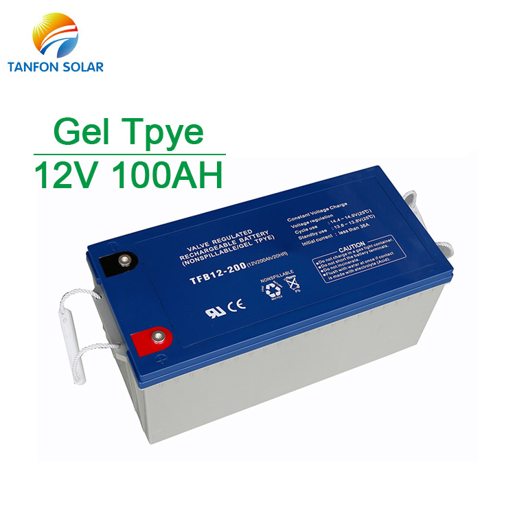 Off Grid 12V 100AH Gel Solar Battery Home Power Storage