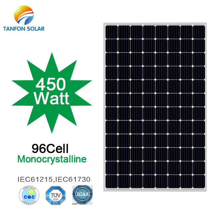 Highest Watt 450w Solar Panel 48V Roof Solar Panels