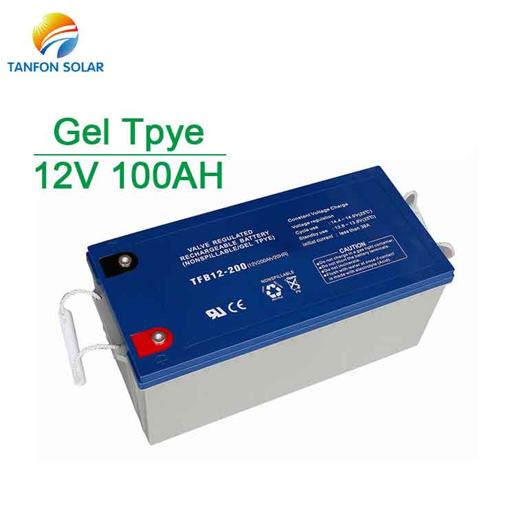 battery for solar system 100AH solar power battery