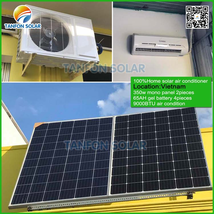 90000btu off grid DC home Solar Powered air conditioner