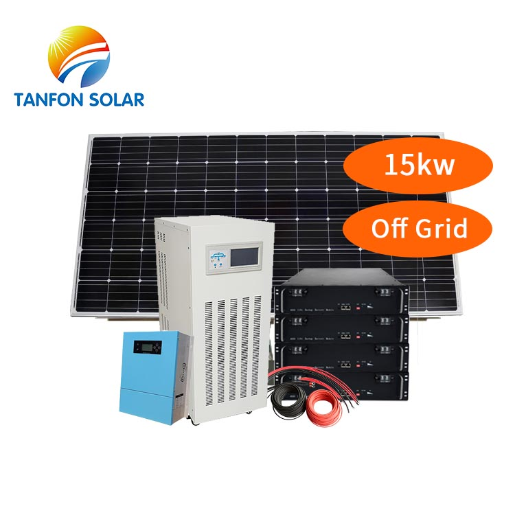 15KW 15Kva Off Grid Solar Power System Kit With Battery Energy Storage