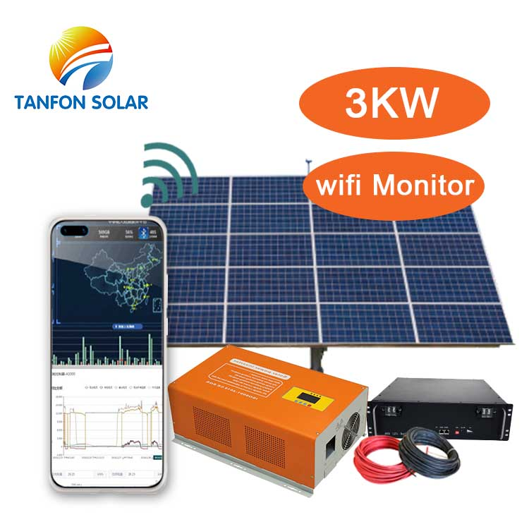 complete solar panel kit system 3kw for lighting system
