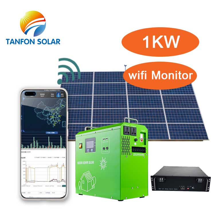 Portable lithium solar power generator 500w-3kw Full solar panel kit