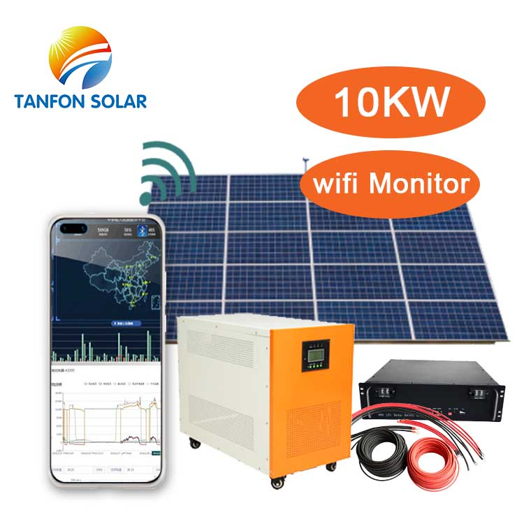 solar panel system 10kw with lithium or gel battery design