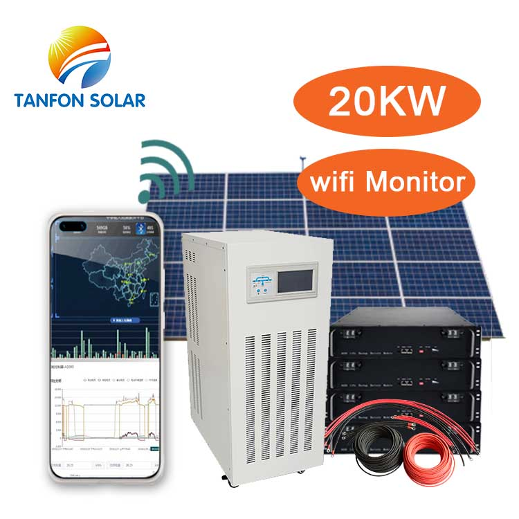 Commercial use 20kw solar system with lithium battery