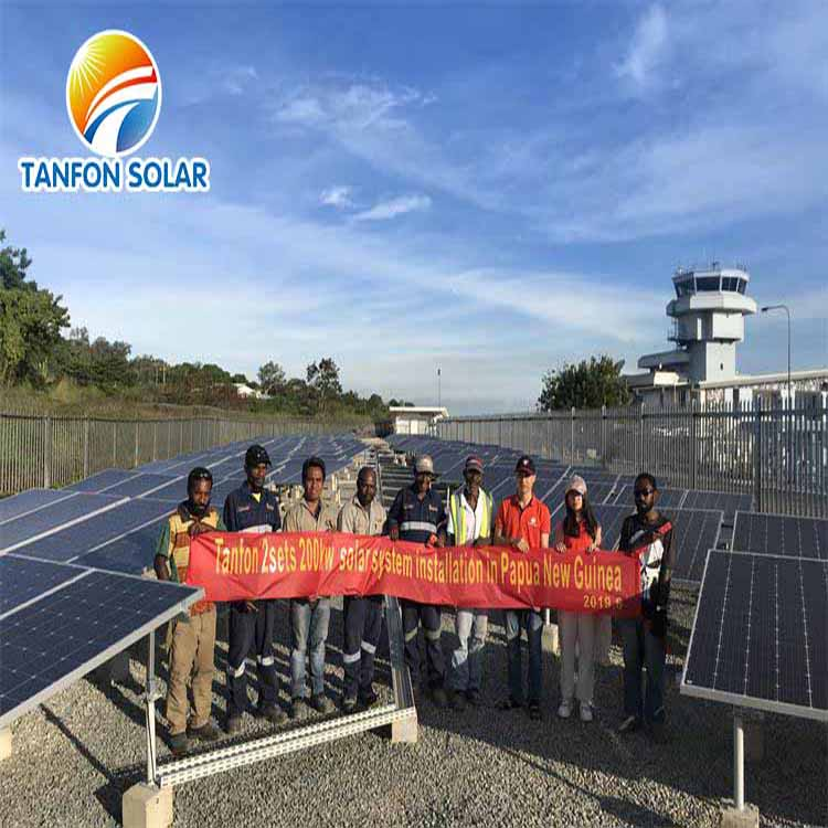 How 200KW Solar system for Factory in Papua New Guinea