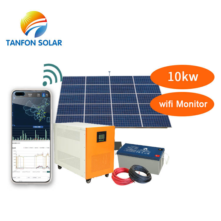 10kva 10kw Off Grid Solar Power System kit With Battery For Home