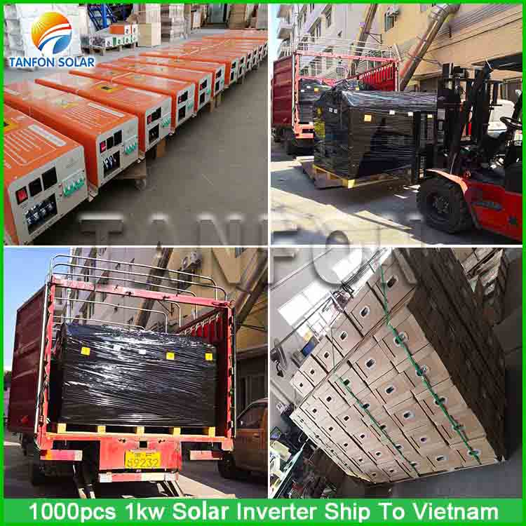 1000 sets 1kw solar inverter projects in Vietnam