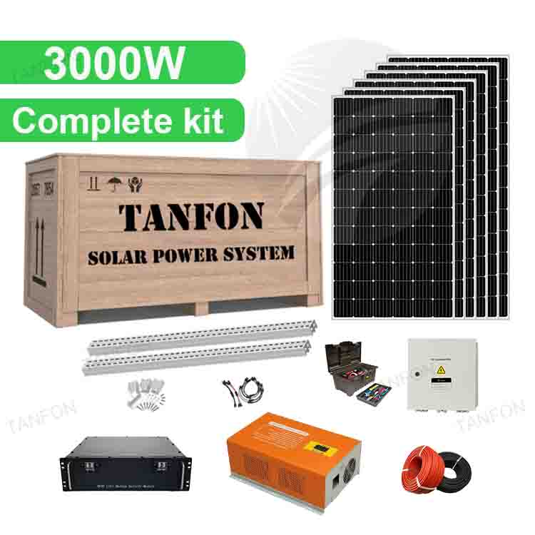 3000W Complete Solar Panel Kit For Home 3kva