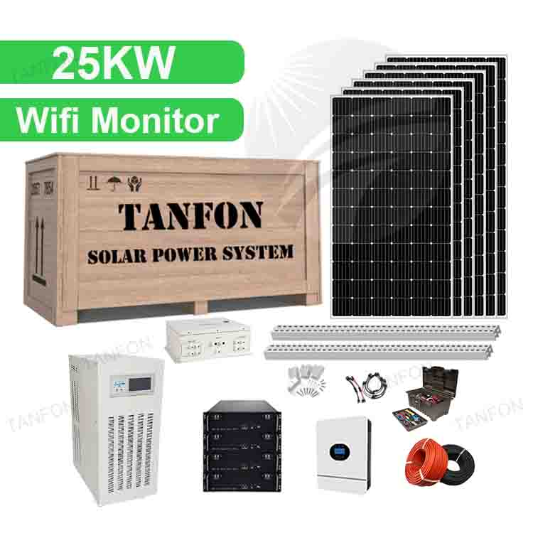 25kw Solar Panels System Photovoltaic Energy Storage Systems